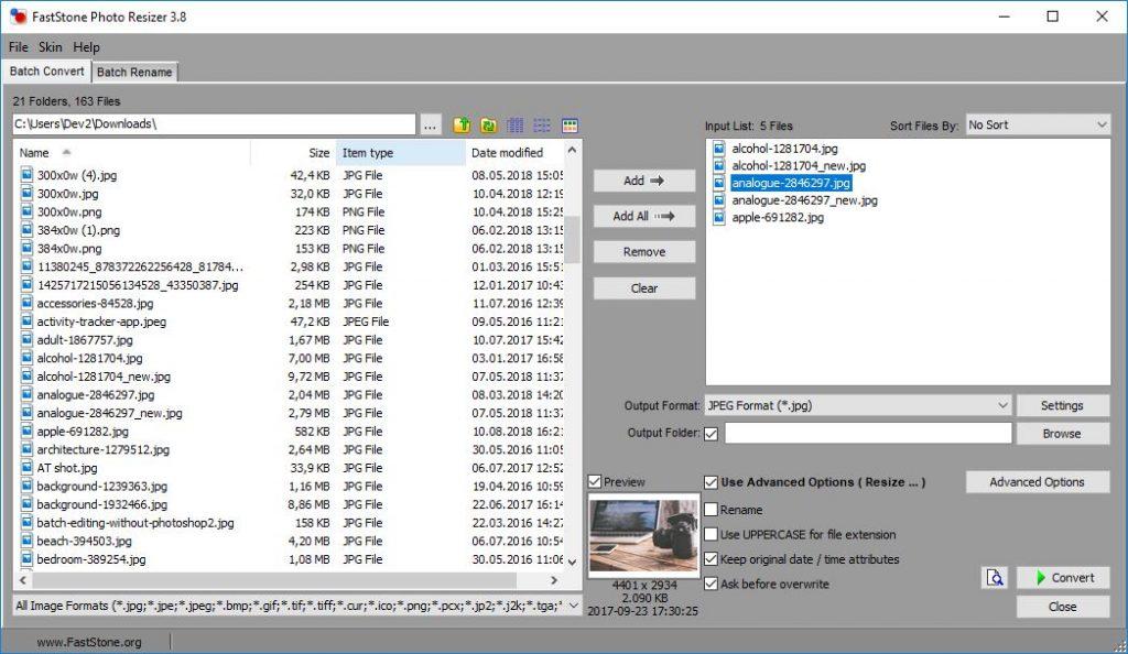 Top 10 Programmi per Convertire Immagini su Windows
